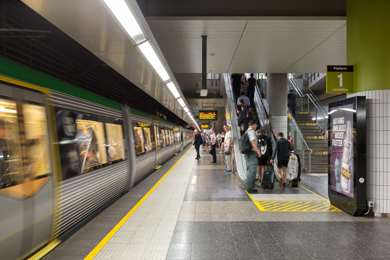 perth undergroung train station - Hera Engineering